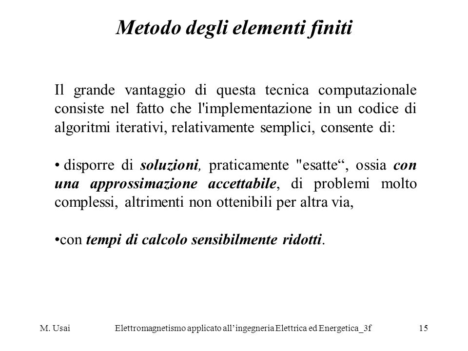 Metodo degli elementi finiti