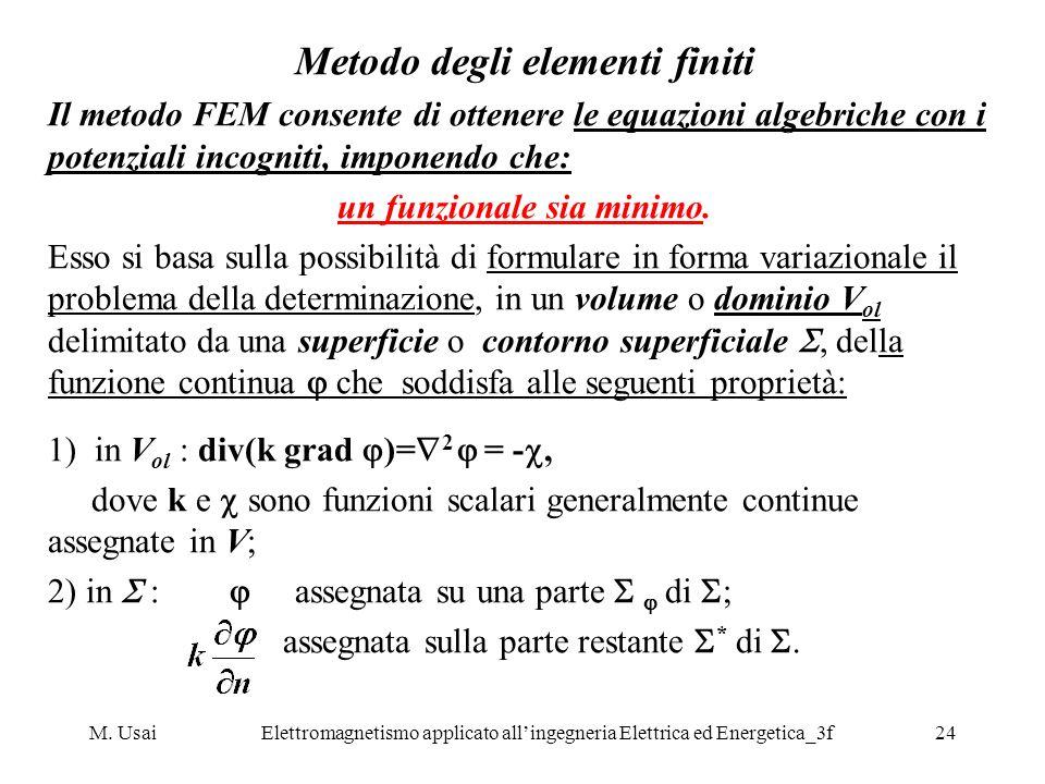 Metodo degli elementi finiti un funzionale sia minimo.