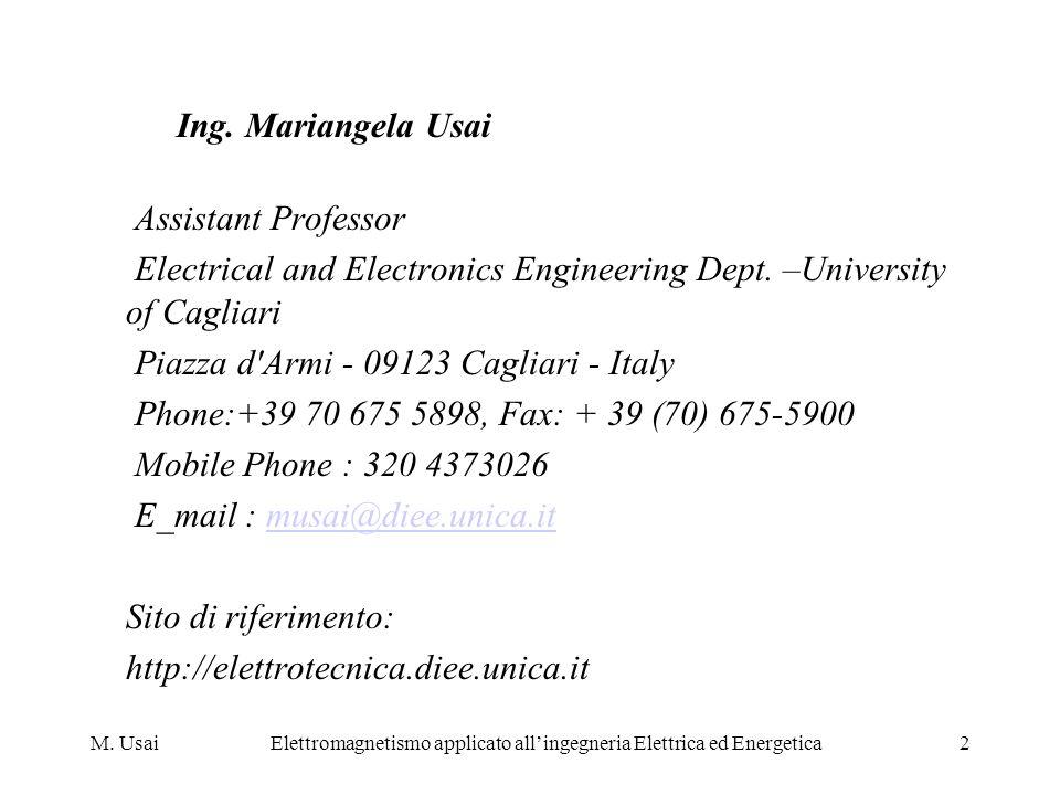 Elettromagnetismo applicato all'ingegneria Elettrica ed Energetica