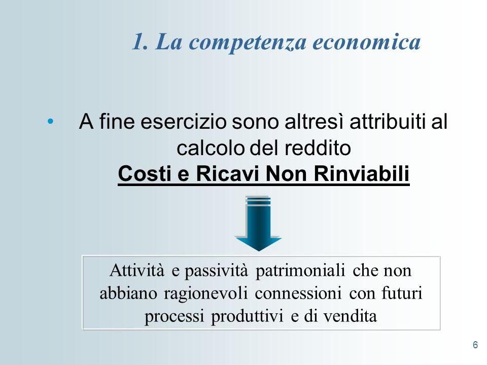 1. La competenza economica