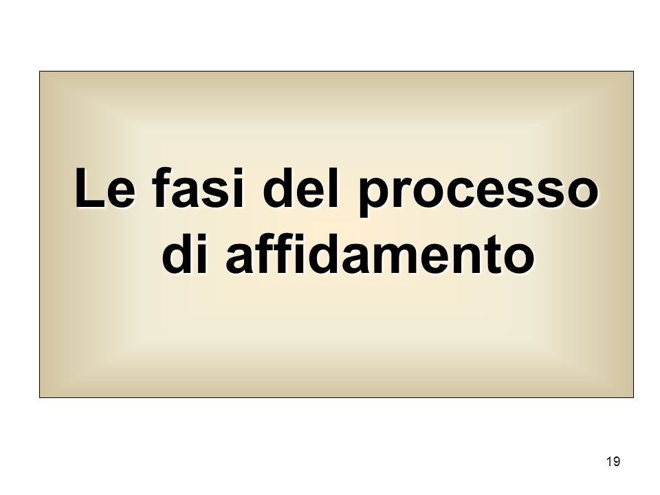 Le fasi del processo di affidamento