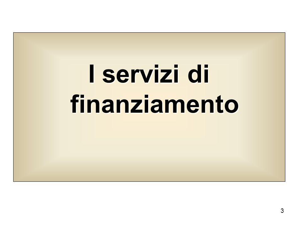 I servizi di finanziamento