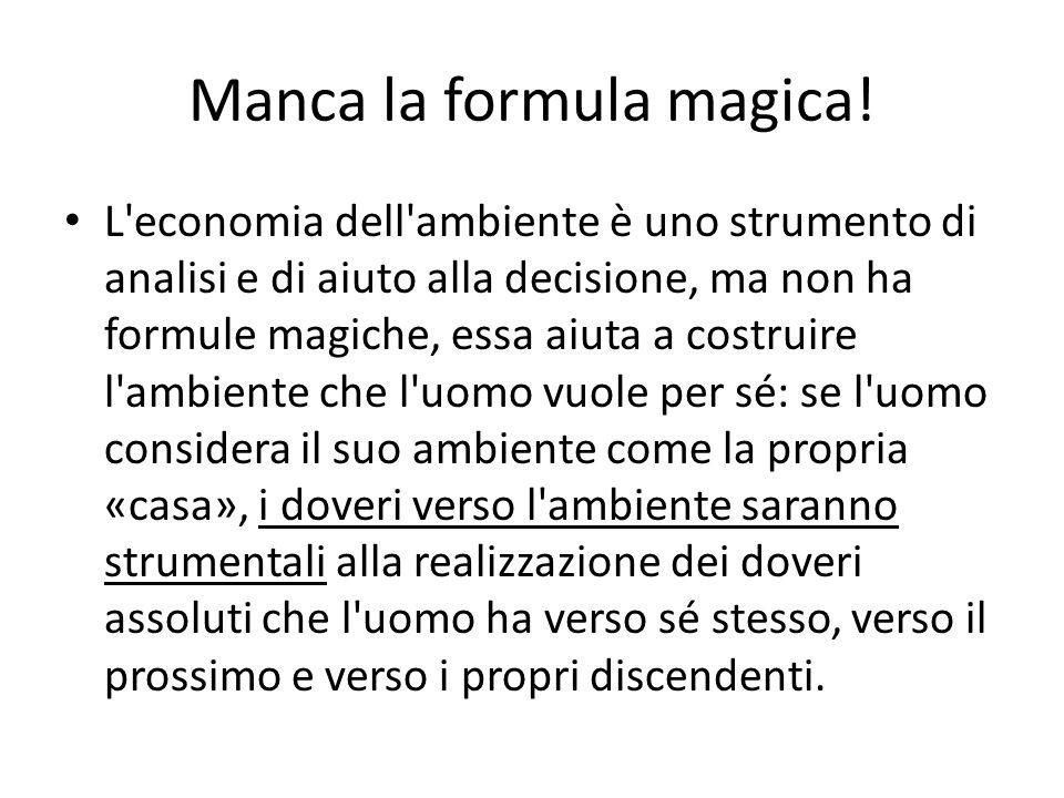 Manca la formula magica!