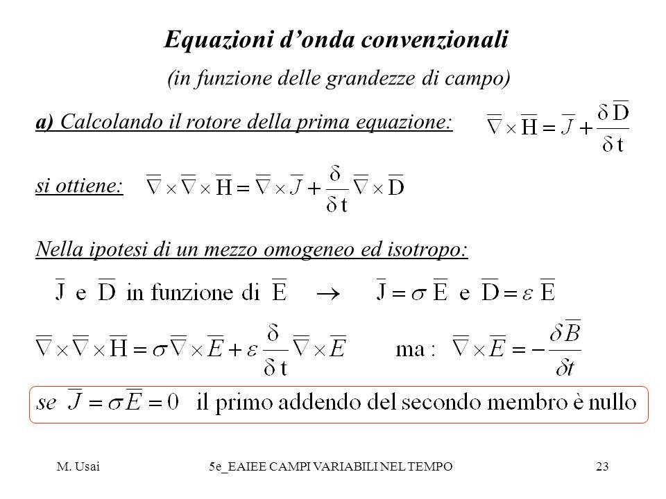 Equazioni d'onda convenzionali