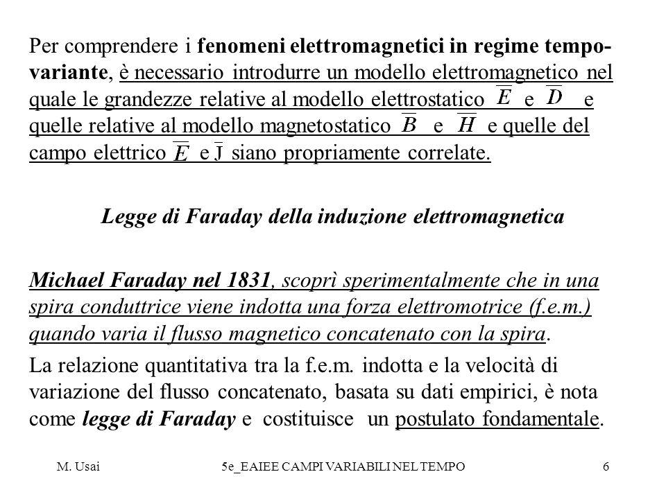 Legge di Faraday della induzione elettromagnetica