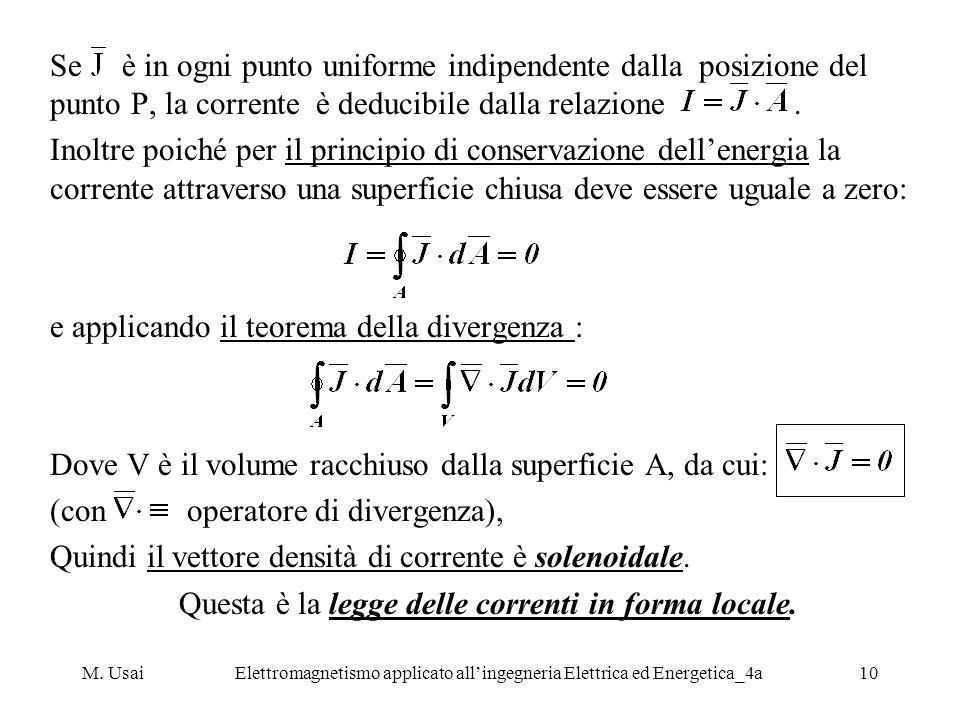 e applicando il teorema della divergenza :