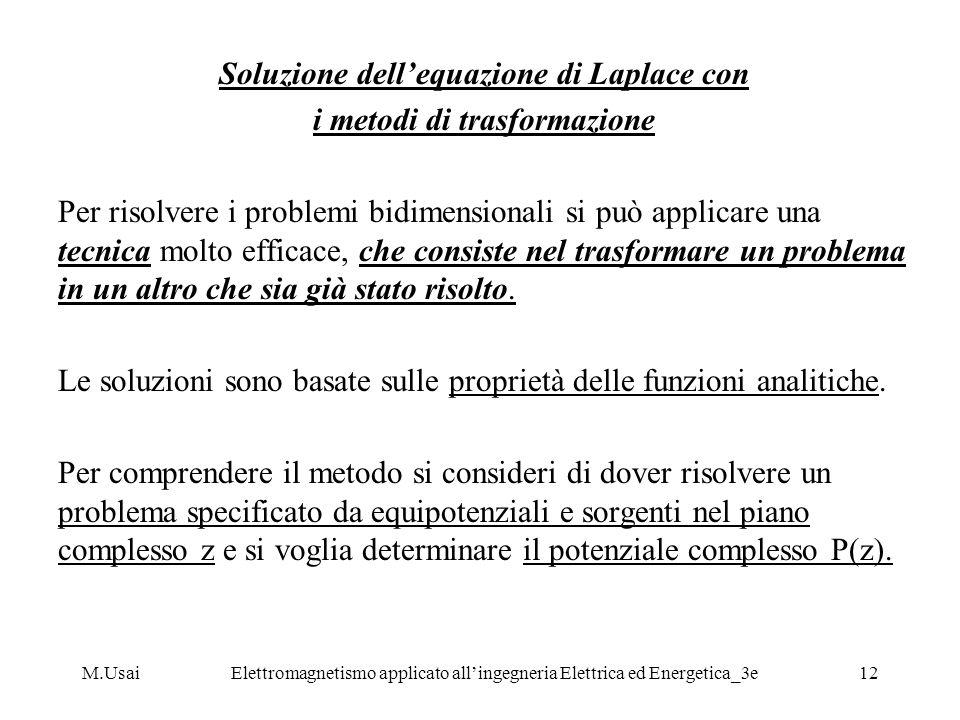 Soluzione dell'equazione di Laplace con i metodi di trasformazione