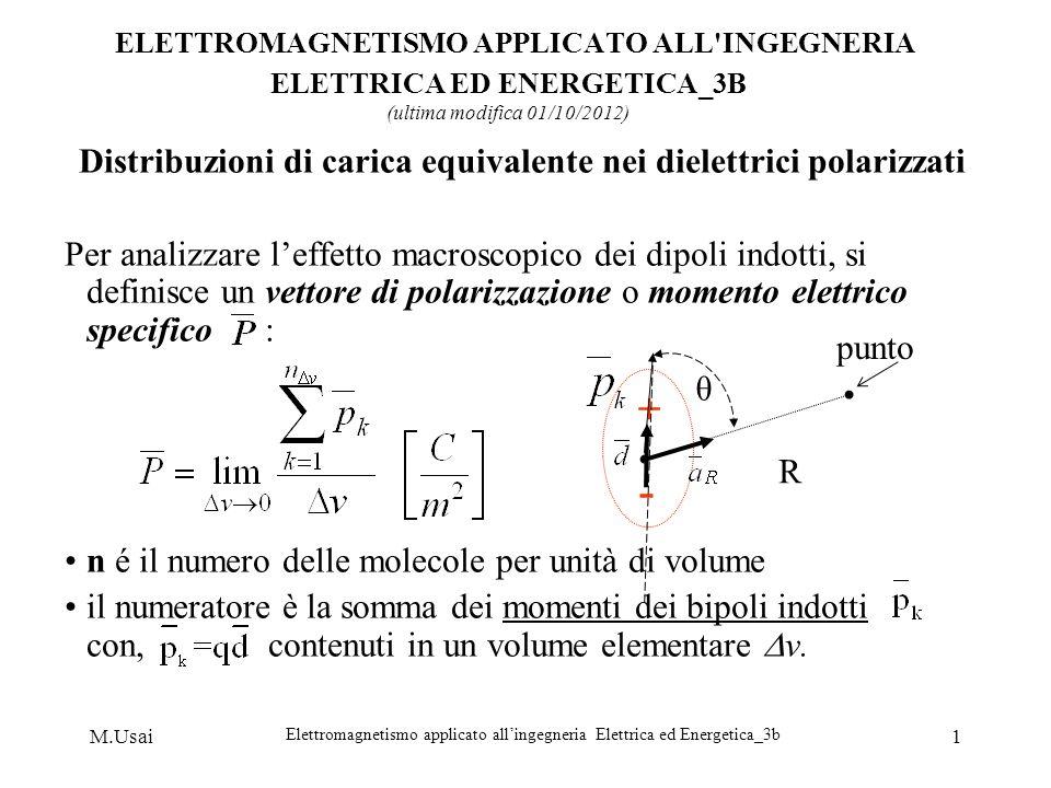 Distribuzioni di carica equivalente nei dielettrici polarizzati