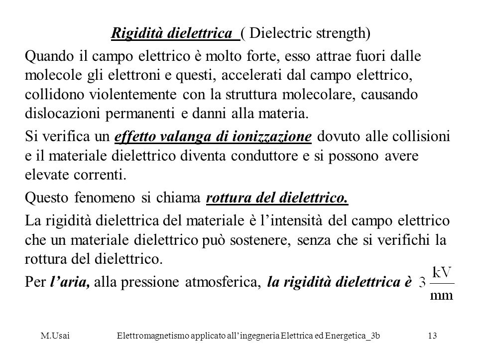 Rigidità dielettrica ( Dielectric strength)