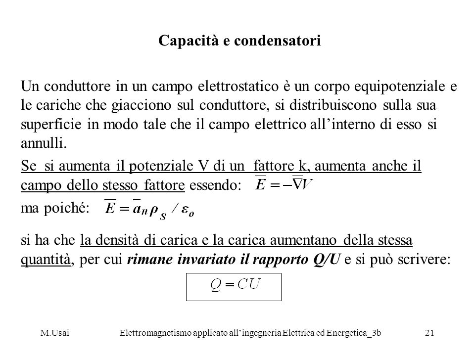 Capacità e condensatori
