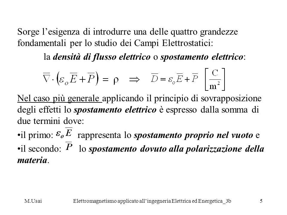 la densità di flusso elettrico o spostamento elettrico: