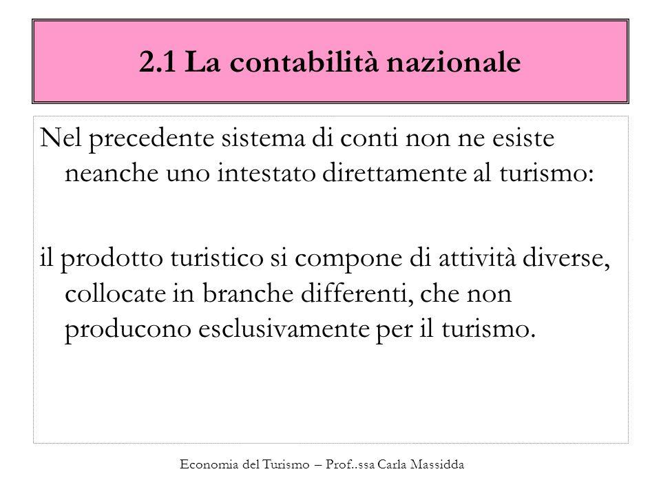 2.1 La contabilità nazionale