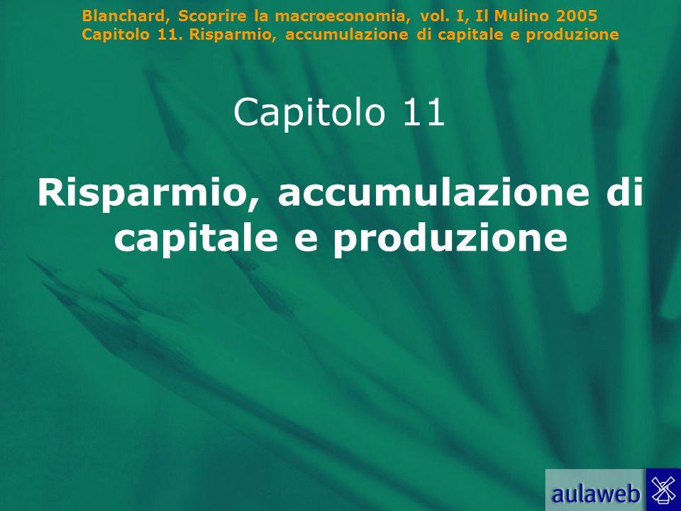 Risparmio, accumulazione di capitale e produzione