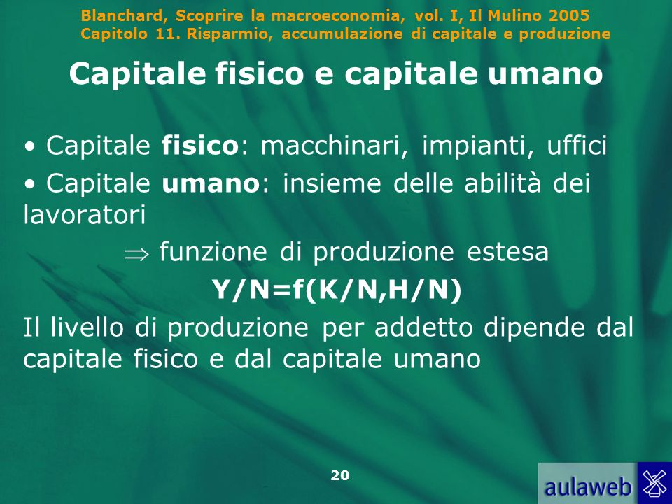 Capitale fisico e capitale umano
