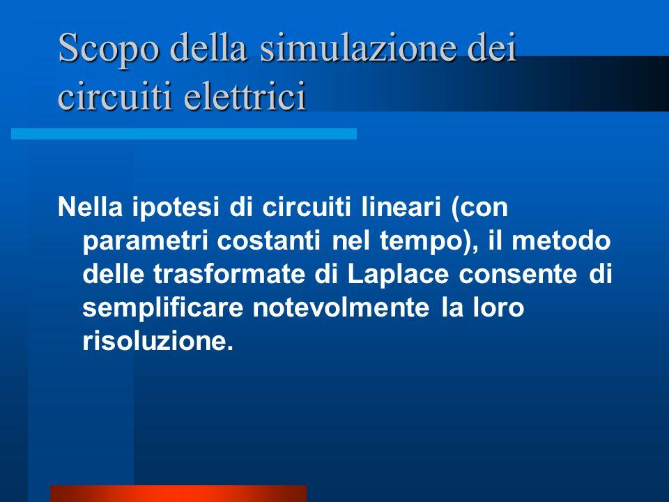 Scopo della simulazione dei circuiti elettrici