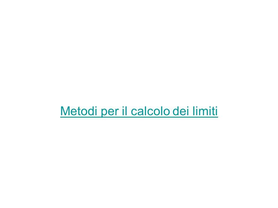 Metodi per il calcolo dei limiti