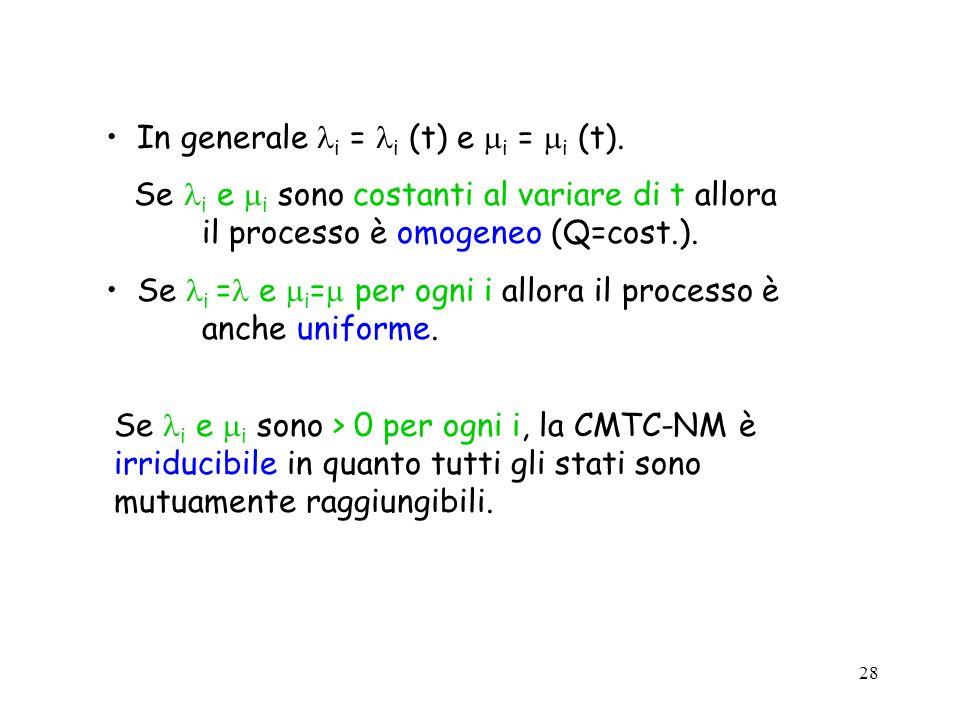 In generale i = i (t) e i = i (t).