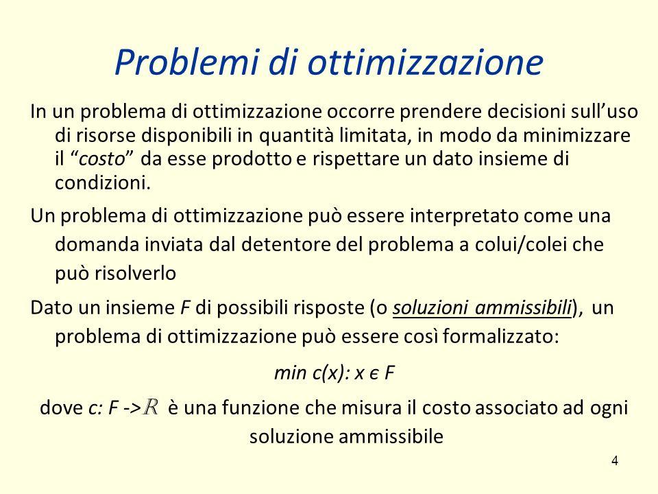 Problemi di ottimizzazione
