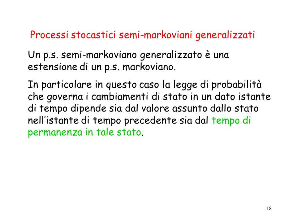 Processi stocastici semi-markoviani generalizzati