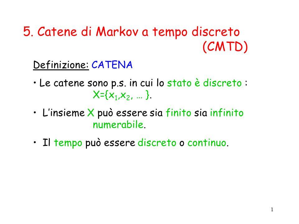 5. Catene di Markov a tempo discreto (CMTD)