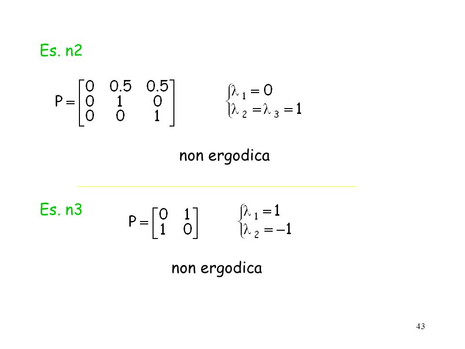 Es. n2 non ergodica Es. n3 non ergodica