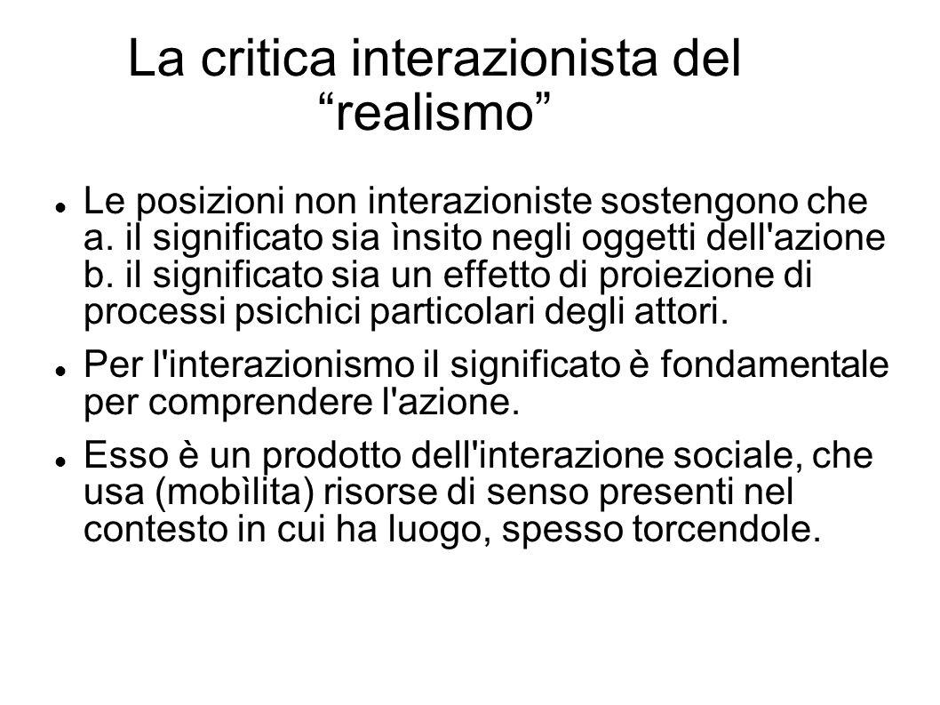 La critica interazionista del realismo