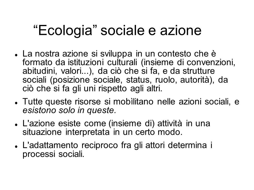 Ecologia sociale e azione