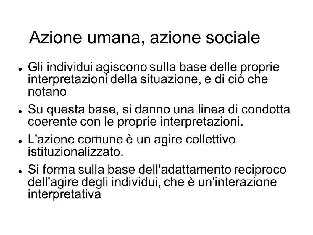 Azione umana, azione sociale