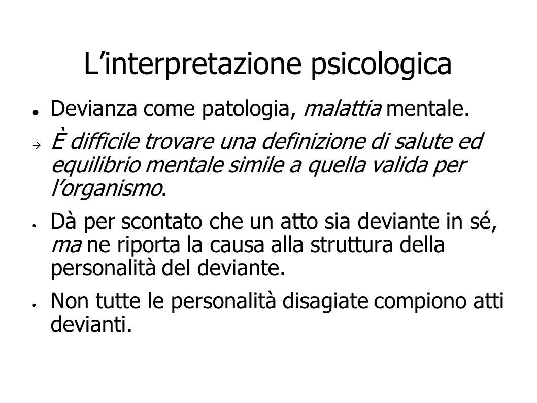 L'interpretazione psicologica