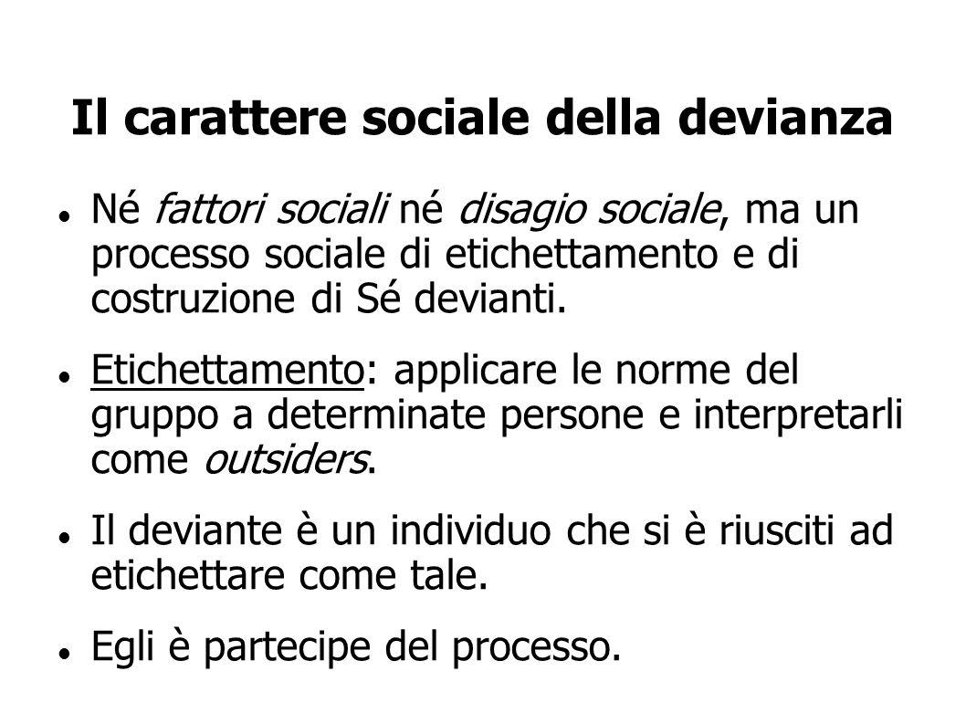 Il carattere sociale della devianza
