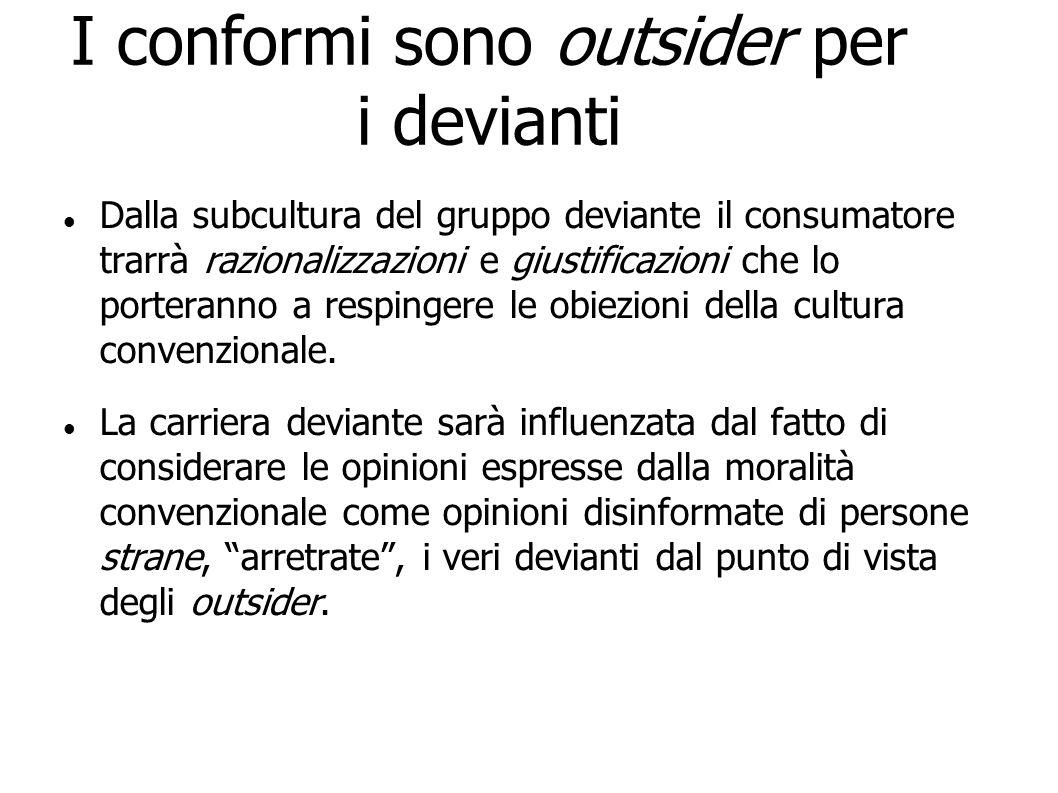 I conformi sono outsider per i devianti