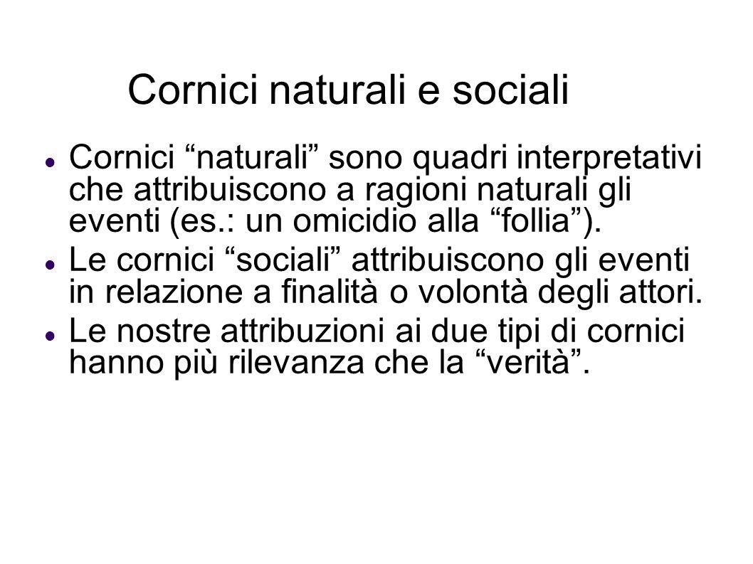 Cornici naturali e sociali