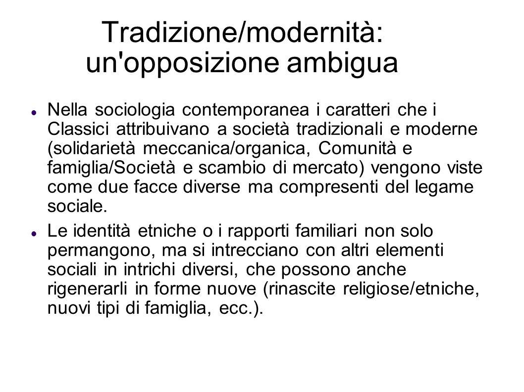 Tradizione/modernità: un opposizione ambigua
