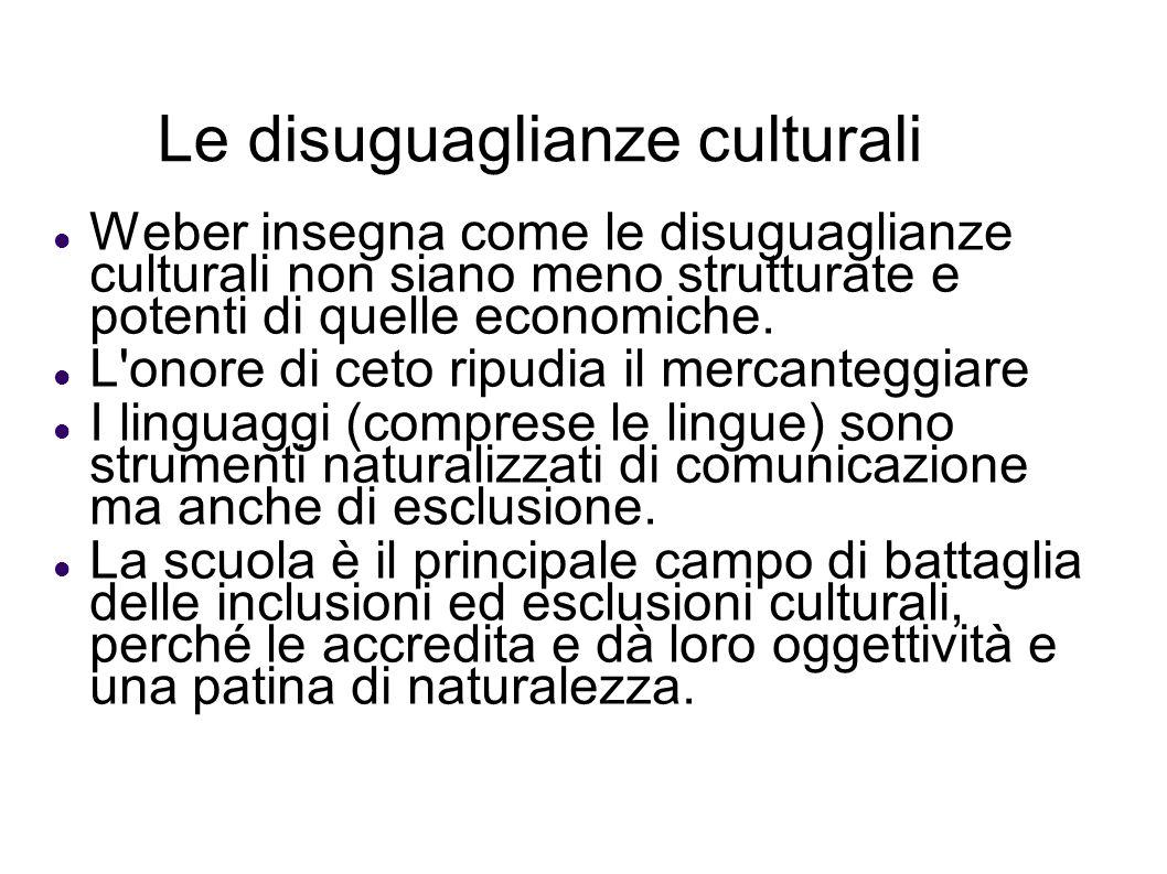 Le disuguaglianze culturali