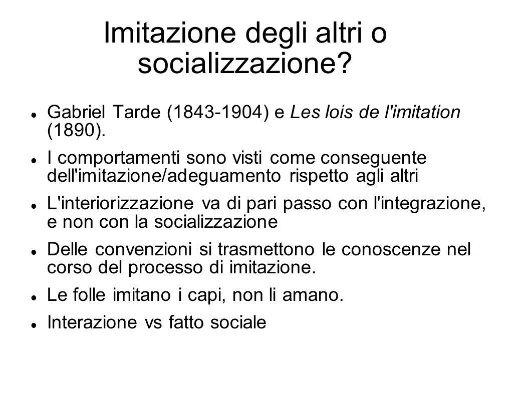 Imitazione degli altri o socializzazione