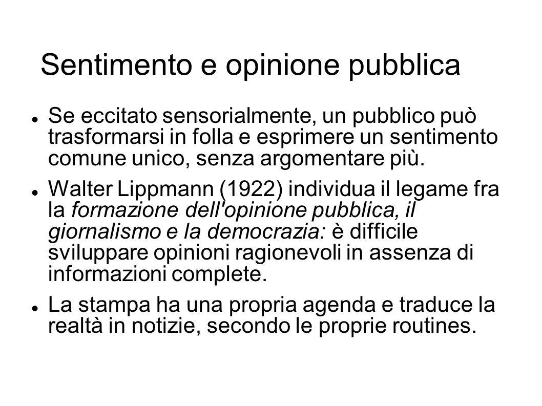 Sentimento e opinione pubblica