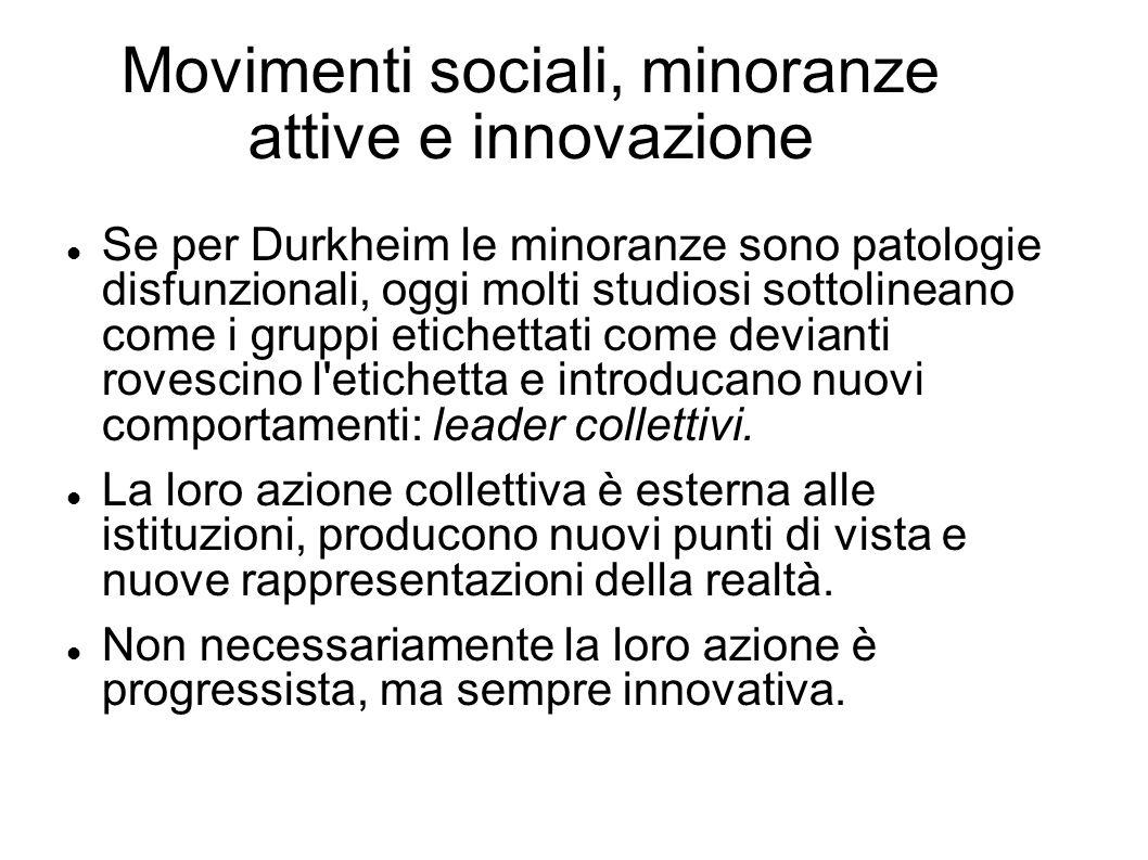 Movimenti sociali, minoranze attive e innovazione