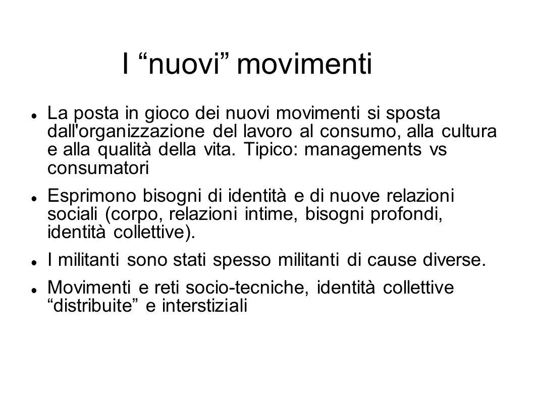 I nuovi movimenti