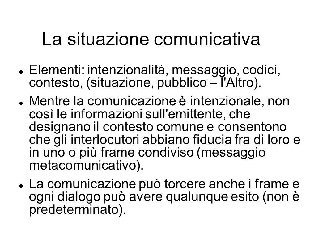 La situazione comunicativa