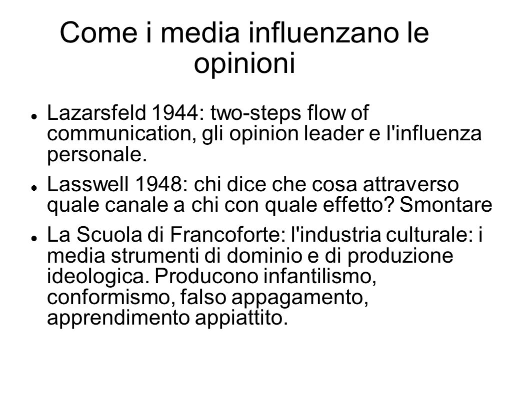 Come i media influenzano le opinioni