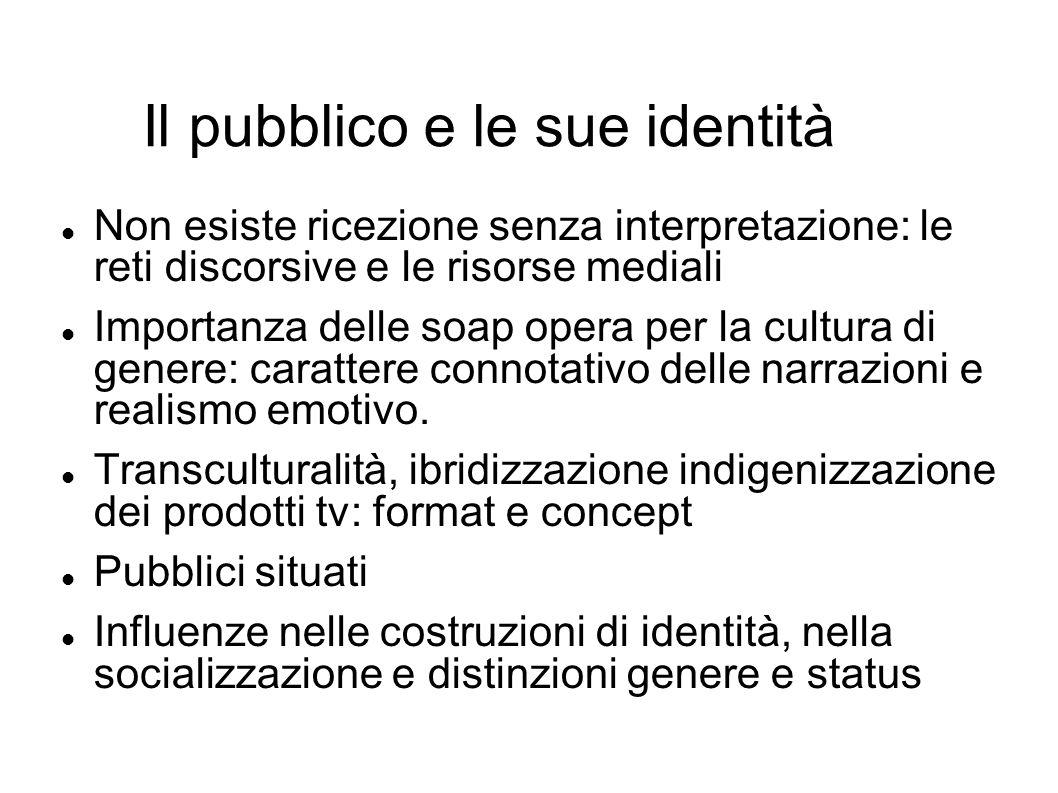 Il pubblico e le sue identità