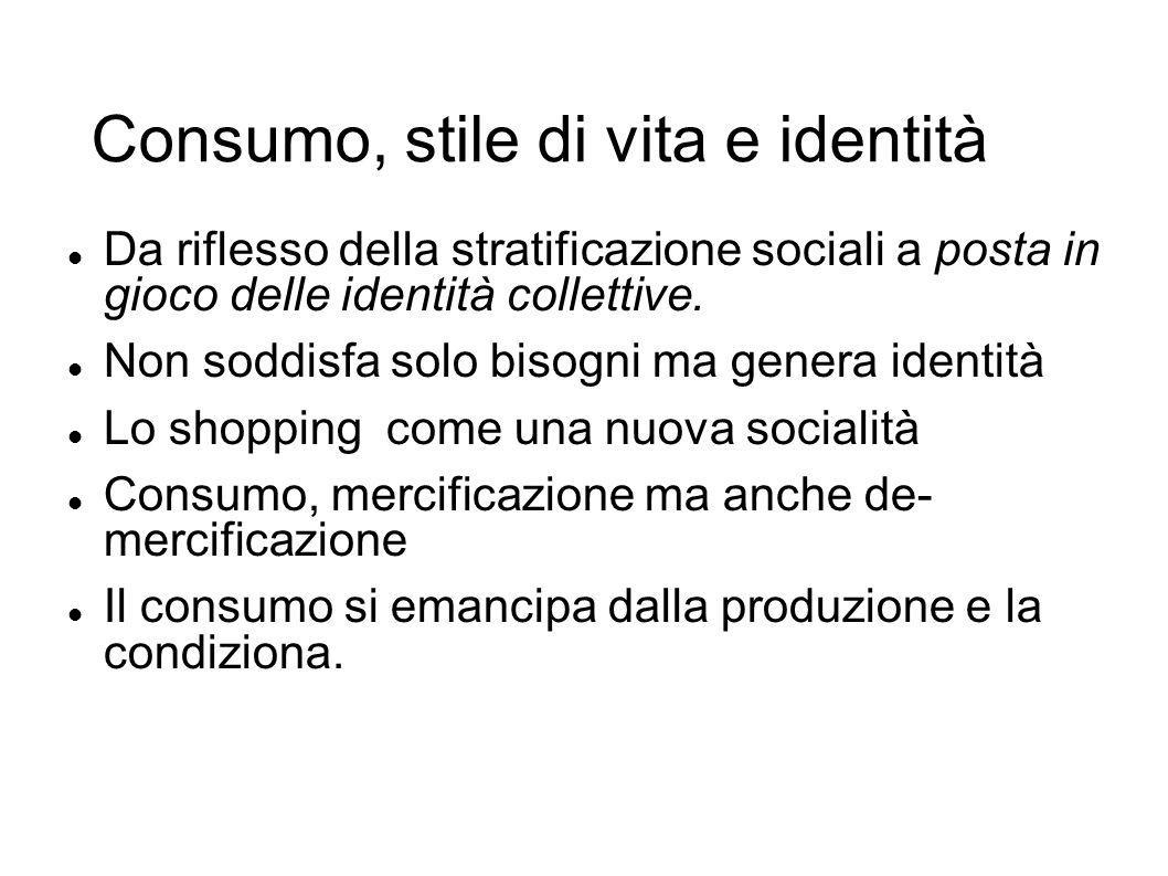 Consumo, stile di vita e identità