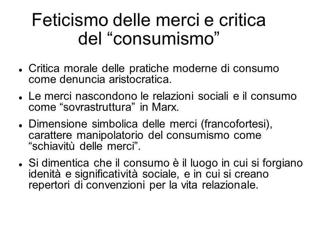 Feticismo delle merci e critica del consumismo