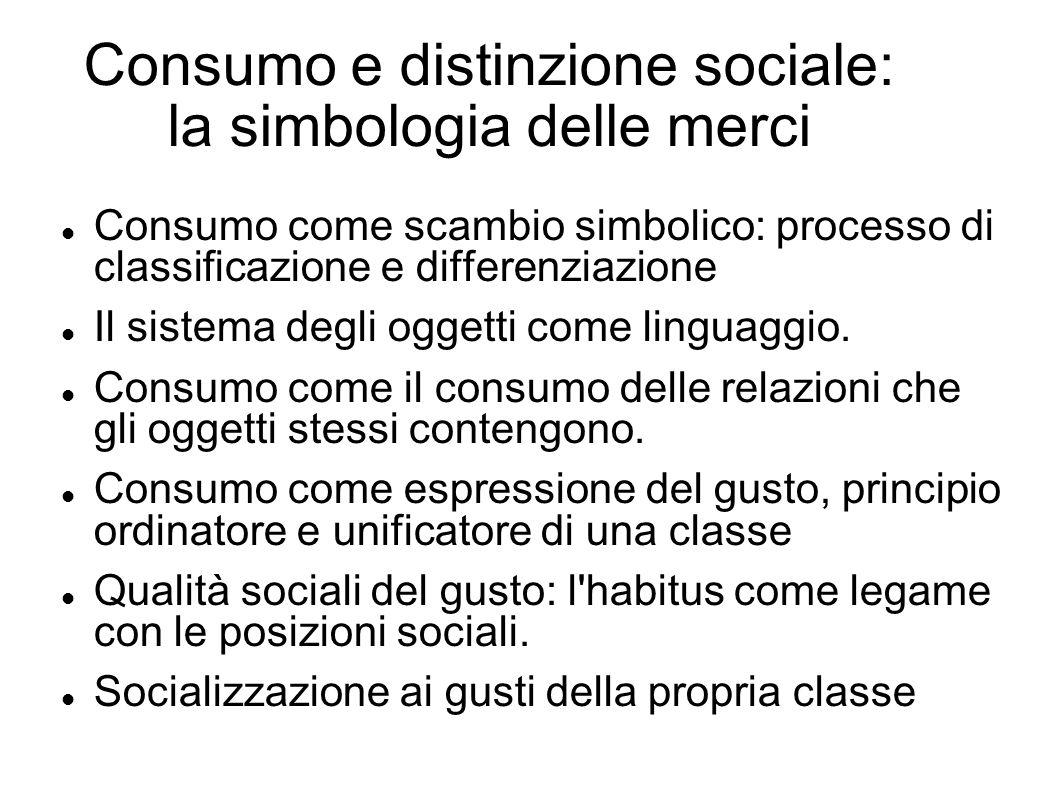 Consumo e distinzione sociale: la simbologia delle merci