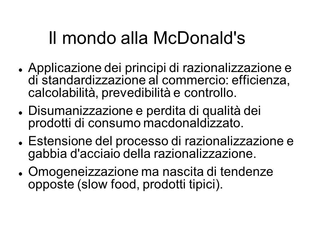 Il mondo alla McDonald s