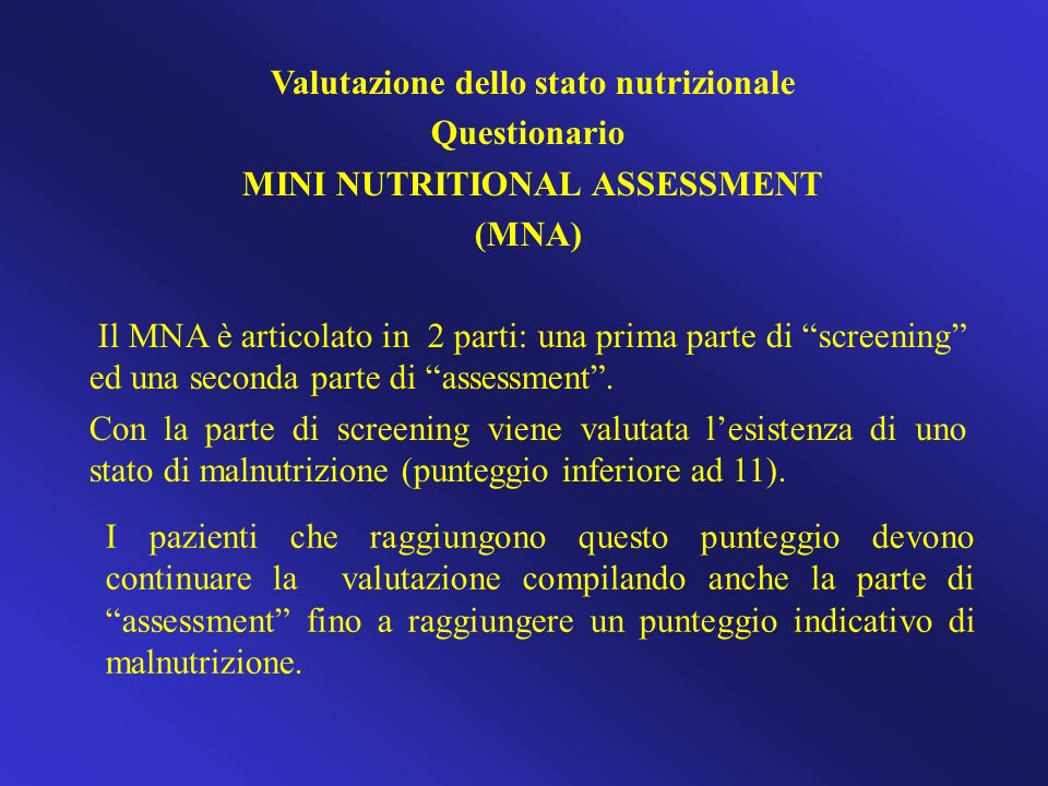 MINI NUTRITIONAL ASSESSMENT