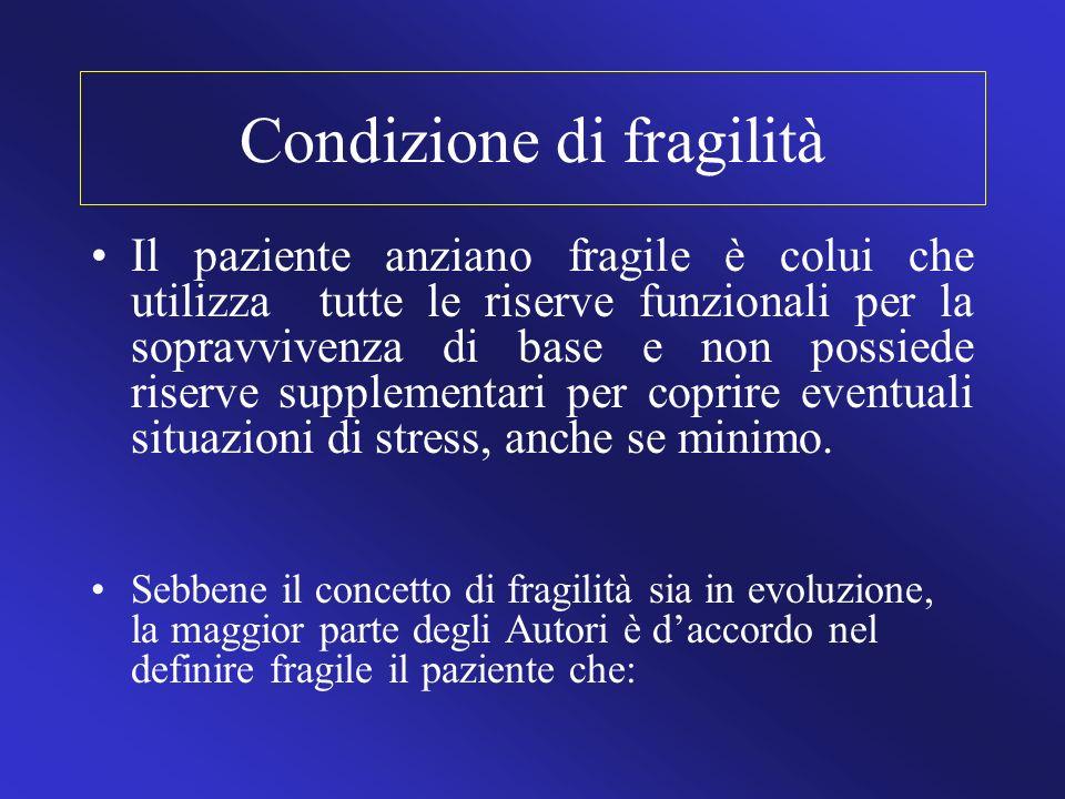 Condizione di fragilità