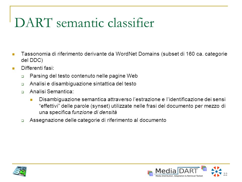 DART semantic classifier