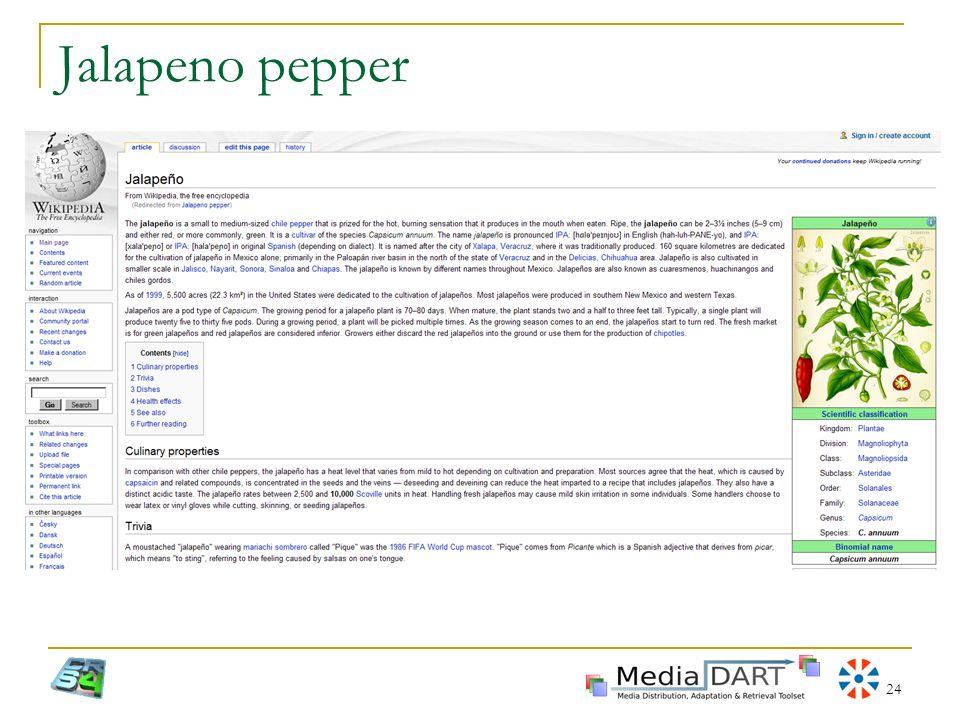 Jalapeno pepper XVII Settimana della Cultura Scientifica e Tecnologica - La Civiltà delle Macchine Intelligenti.