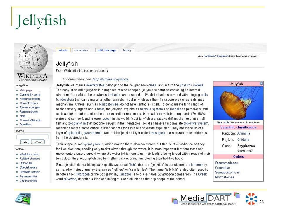 Jellyfish XVII Settimana della Cultura Scientifica e Tecnologica - La Civiltà delle Macchine Intelligenti.